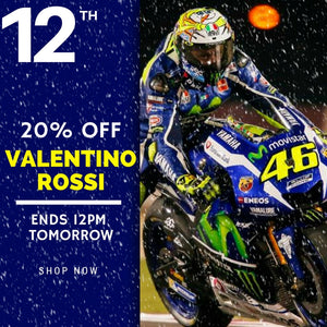 20% OFF EVERYTHING VALENTINO ROSSI 24 HOURS!