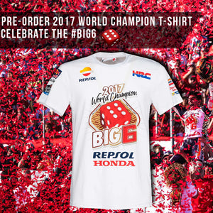 PRE-ORDER MARC MARQUEZ #BIG6 WORLD CHAMPION T-SHIRT!