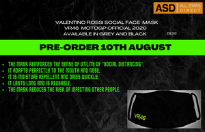 PRE-ORDER NOW! Valentino Rossi social face mask
