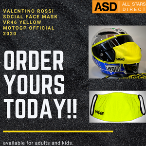 Valentino Rossi Yellow Face Mask