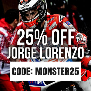 MONSTROUS 25% OFF JORGE LORENZO 😈
