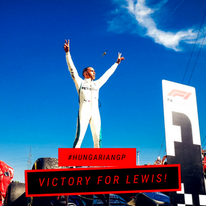 Hamilton on top of the world after HungarianGP VICTORY!