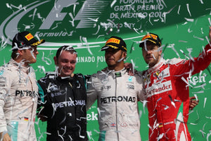 Hamilton wins as Rosberg escapes with second
