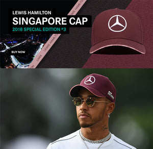 LEWIS HAMILTON #SINGAPOREGP CAP ANYONE?😝