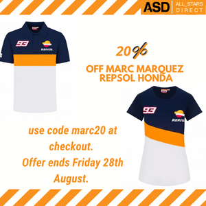 20% off Marc Marquez Repsol Honda use code marc20