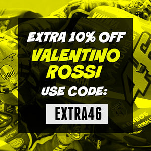 10% OFF EVERYTHING VALENTINO ROSSI