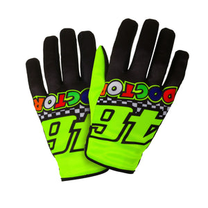 Valentino Rossi Gloves VR46 MotoGP The Doctor Race Official 2020 - allstarsdirect