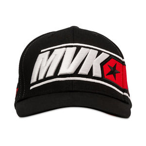 Maverick Vinales Baseball Cap 12 Moto GP Logo Panel Black Official - allstarsdirect