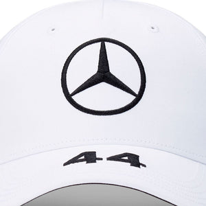 Mercedes AMG  Cap Petronas F1 Driver Lewis Hamilton White Official 2020 - allstarsdirect