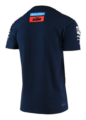 Troy Lee Designs T-shirt Navy Blue Sponsors Team Official 2020 - allstarsdirect