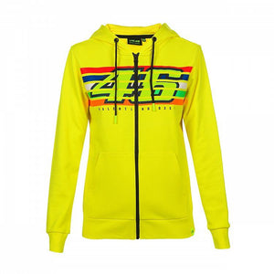 Valentino Rossi VR46 Moto GP The Doctor Stripes Women's Hoodie Official - allstarsdirect