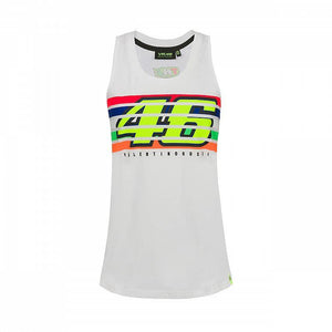 Valentino Rossi VR46 Moto GP The Doctor Stripes Women's Tank Top Official - allstarsdirect