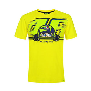 Valentino Rossi T-shirt VR46 MotoGP Cupolino Yellow Official 2019 - allstarsdirect