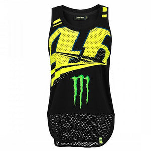 Valentino Rossi Tank Top VR46 MotoGP Monster Sponsor Monza Women's Official New - allstarsdirect