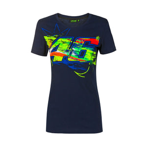 Valentino Rossi Womens Blue T-shirt  VR46 MotoGP Winter Test Official 2020 - allstarsdirect