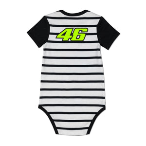 Valentino Rossi Baby Body VR46 MotoGP Sun & Moon Stripes Official 2020 - allstarsdirect