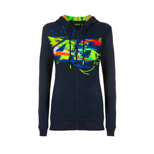 Valentino Rossi  Womens Blue Hoodie VR46 MotoGP Winter Test Official 2020 - allstarsdirect