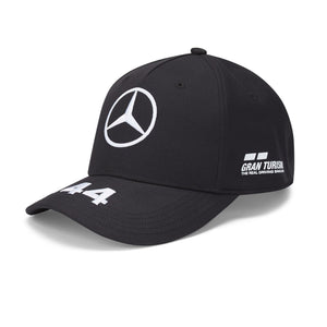 Mercedes AMG Petronas F1 Lewis Hamilton Kids 44 Cap Black Official 2020 - allstarsdirect