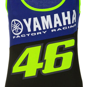 Valentino Rossi Womens Tank Top VR46 MotoGP M1 Yamaha Racing Team Vest Official 2020