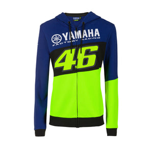 Valentino Rossi VR46 Womens Hoodie MotoGP M1 Yamaha Racing Team Official 2020