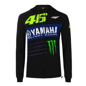 Valentino Rossi Hoodie VR46 MotoGP M1 Power Line Logo Yamaha Official 2020 - allstarsdirect