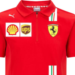 Scuderia Ferrari F1 Racing SF Team Polo Shirt Red Official 2020 - allstarsdirect