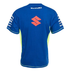 Suzuki T-shirt  MotoGP Team Ecstar Official Teamwear Custom Blue - allstarsdirect