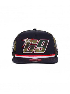 Nicky Hayden 69 Flat Peak Baseball Cap Blue MotoGP Official 2020 - allstarsdirect