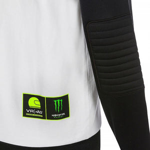 Valentino Rossi Hoodie VR46 MotoGP Monster Sponsor Dual White Official 2019