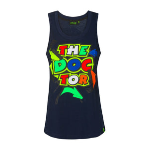 Valentino Rossi Womens Tank Top VR46 Moto GP Street Art The Doctor Official 2020