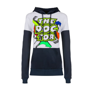 Valentino Rossi Womens Hoodie VR46 Moto GP Street Art The Doctor Official 2020 - allstarsdirect