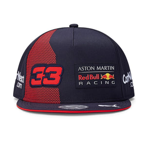 Aston Martin Red Bull Racing Flat Peak Cap F1 Kids Verstappen 33 Official 2020 - allstarsdirect