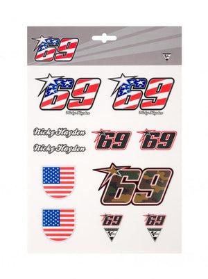 Nicky Hayden Large Sticker Set MotoGP Official 2022