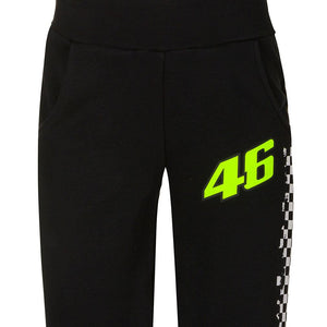 Valentino Rossi Kids Fleece Pants VR46 MotoGP Black Official 2020 - allstarsdirect