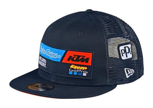 Troy Lee Designs Cap Flat peak Navy Blue Team Sponsor Official 2020