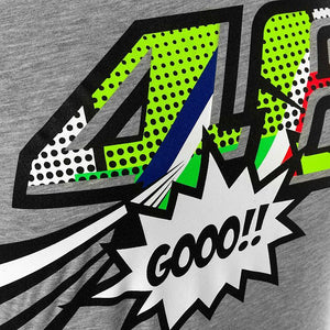 Valentino Rossi VR46 Moto GP Pop Art The Doctor Women's T-shirt Official - allstarsdirect