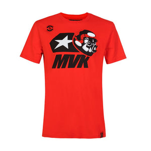 Maverick Vinales 12 Moto GP Large Logo Red T-shirt Official - allstarsdirect