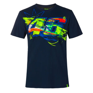 Valentino Rossi T-Shirt VR46 MotoGP Winter Test Blue Official 2020
