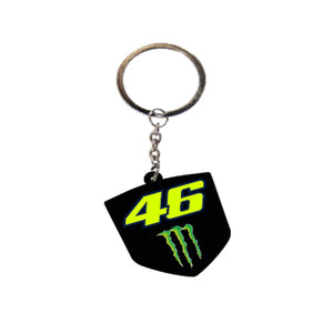 Valentino Rossi VR46 Moto GP Dual Monster Energy Key Ring Official 2020
