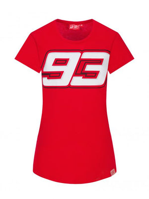 Marc Marquez T-shirt Womens 93 Graphic Red MotoGP Official 2020 - allstarsdirect