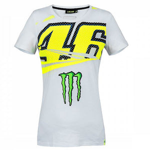 Valentino Rossi VR46 Moto GP Monster Energy Monza Women's T-shirt Official New - allstarsdirect