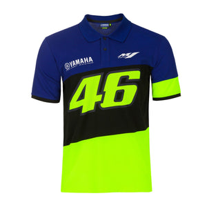 Valentino Rossi Polo Shirt VR46 MotoGP M1 Yamaha Racing Official 2020 - allstarsdirect