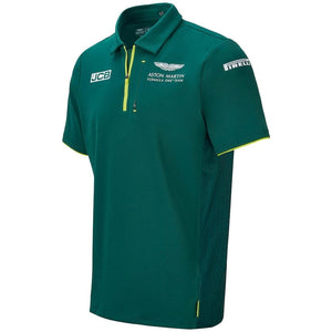 Aston Martin F1 Team Mens Polo Shirt Official 2021
