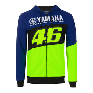 Valentino Rossi Hoodie VR46 MotoGP M1 Yamaha Factory Racing Team Official 2020 - allstarsdirect