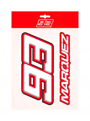 Marc Marquez 93 Name Large Stickers MotoGP Official 2020