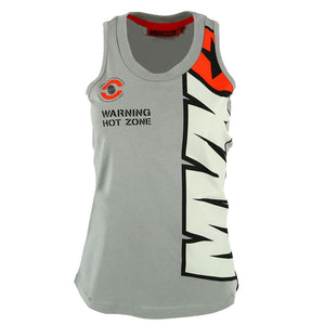 Maverick Vinales 25 Moto GP Women's Tank Top Grey Official New - allstarsdirect