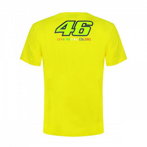 Valentino Rossi T-shirt VR46 MotoGP The Doctor Stripes Yellow Official 2019 - allstarsdirect