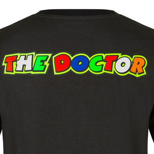 Valentino Rossi T-Shirt VR46 MotoGP Race The Doctor Black Official 2020 - allstarsdirect