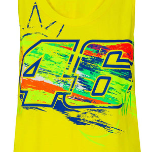 Valentino Rossi Womens Tank Top  VR46 MotoGP Winter Test Yellow Official 2020 - allstarsdirect