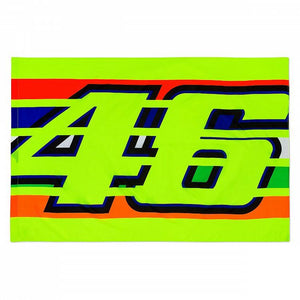 Valentino Rossi VR46 Moto GP Stripes Flag Official 2019